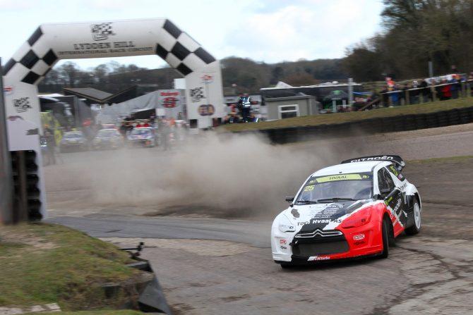 Alexander Hvaal in action in the Hansen Motorsport DS3